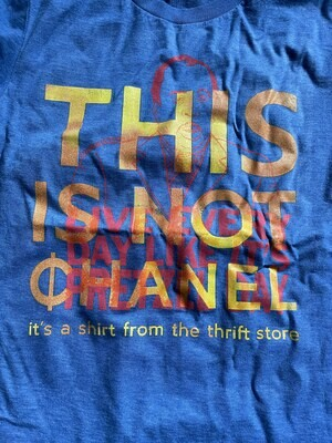This Is Not ¢hanel - NFC clothing - Blue Pretzel Day Shirt