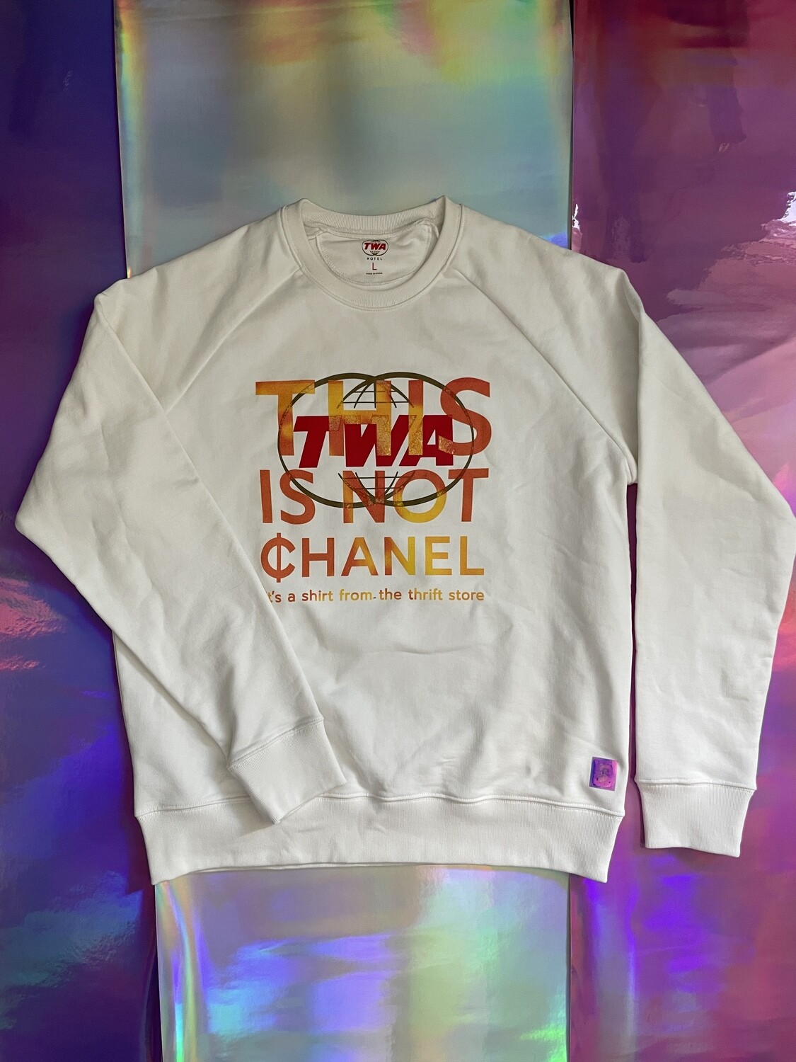 This Is Not ¢hanel - NFC clothing - White TWA Sweater