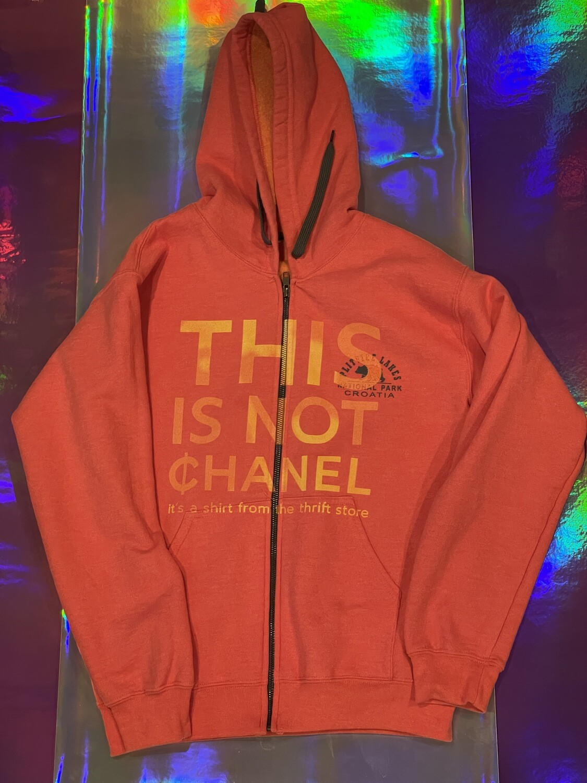 This Is Not ¢hanel - NFC clothing - Orange Croatia Zip Hoodie