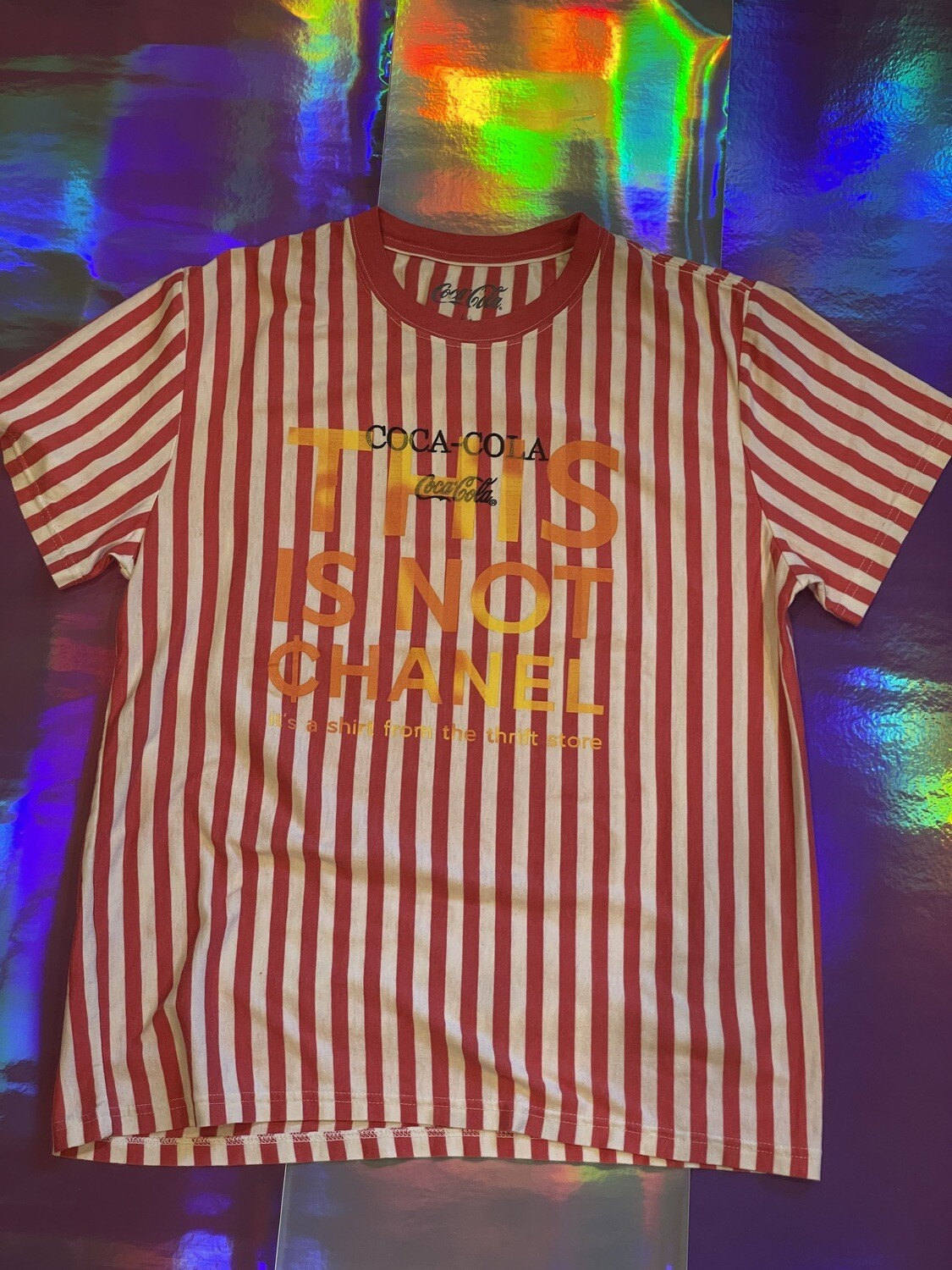 This Is Not ¢hanel - NFC clothing - Striped Coca Cola Red Shirt