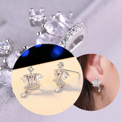 Lola Mini Crowned stud earrings