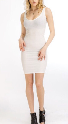 Summer Vibes Basic White Midi Dresss