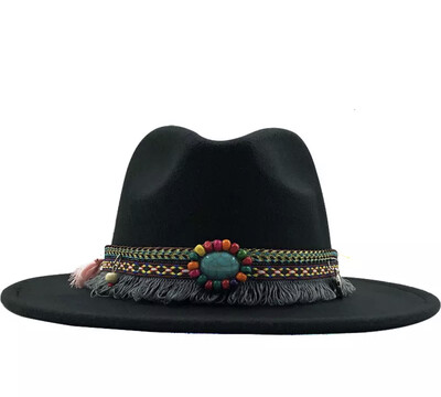 La Diva Fedora Hat With fun detachable belt