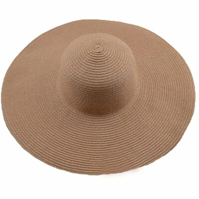 La Capitana khaki Straw Beach Sun Hat