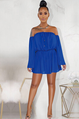 Entitled Chiffon off Shoulder Romper