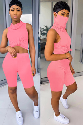 Fierce Two piece  Shorts Face Cover Set