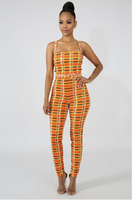 Entangled Multi-Colored Jumpsuit