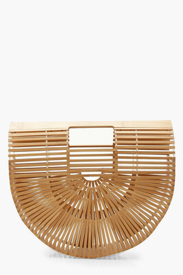 Bamboo Wooden Clutch Bag