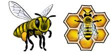 Jabebo Honey Bee Earrings