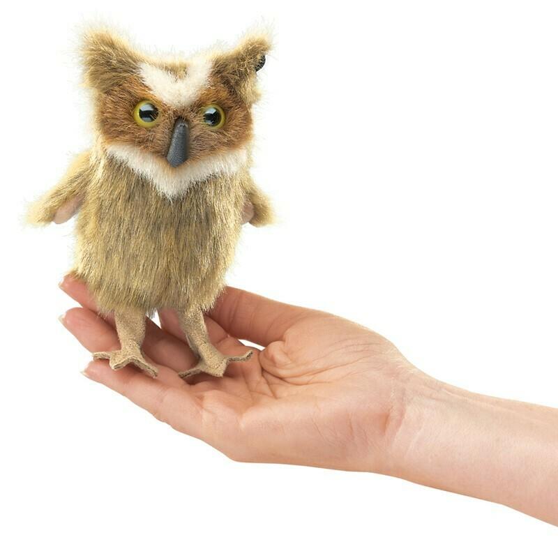 Great Horned Owl Finger Puppet