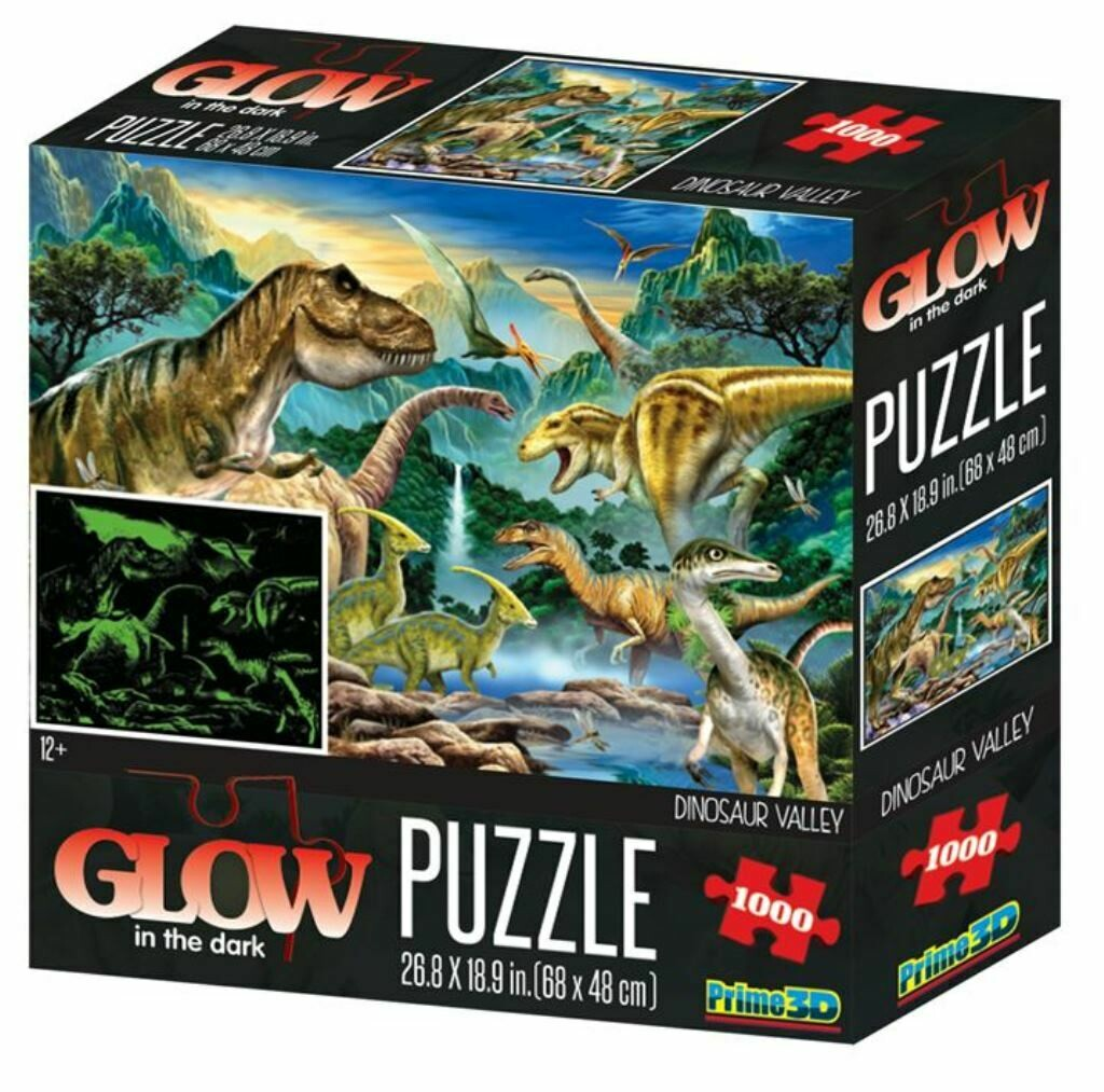 Glow in the Dark Puzzle - Dino