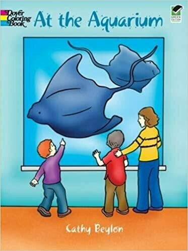 At the Aquarium Coloring Book