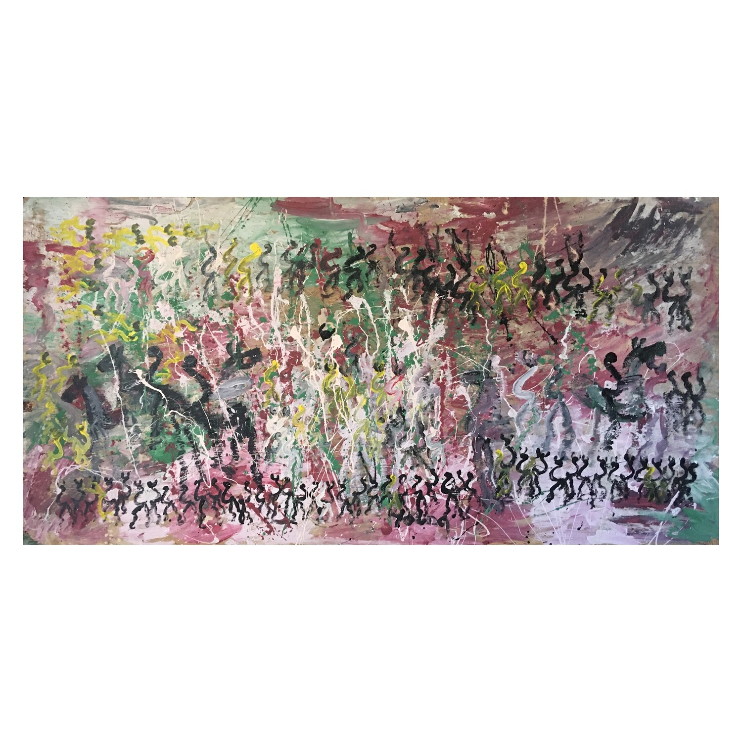 """Pervis Young (Purvis Young), """"Inspired by Pollock"""""""