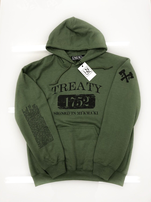 TREATY 1752 GREEN HOODIE