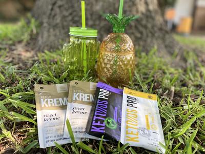 2 Packs Of Keto Kreme 2 Packs Keto OS ( Banana + Chocolate Swirl)