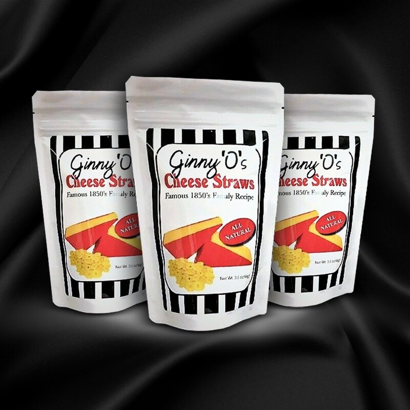 3 Packages of  3.5 oz. Original Ginny O's Cheese Straws