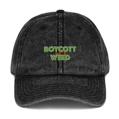 Boycott Lifestyle Vintage Cotton Twill Cap