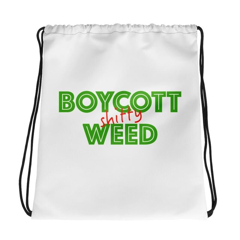 Boycott Lifestyle Drawstring bag