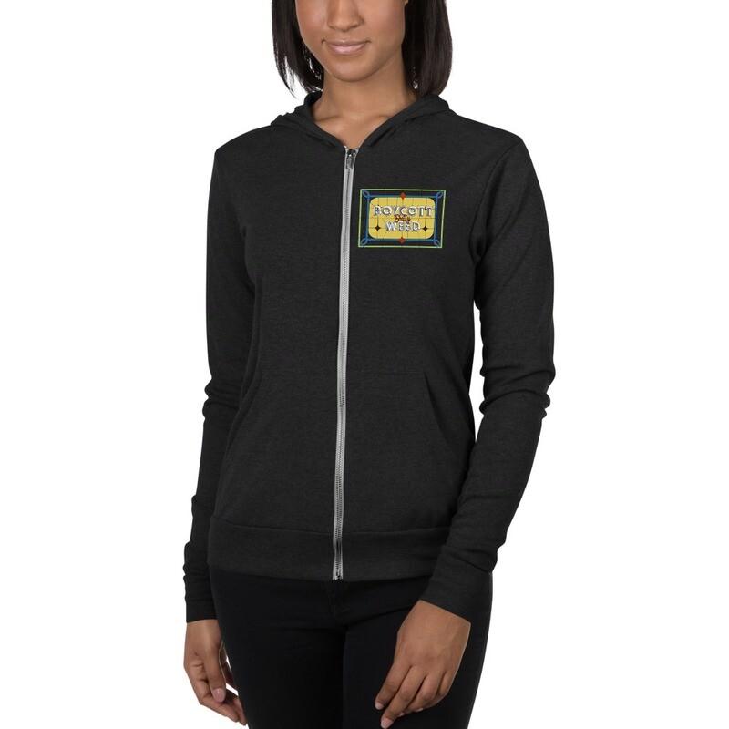 BSW x @Dankanike Stained Glass Unisex zip hoodie