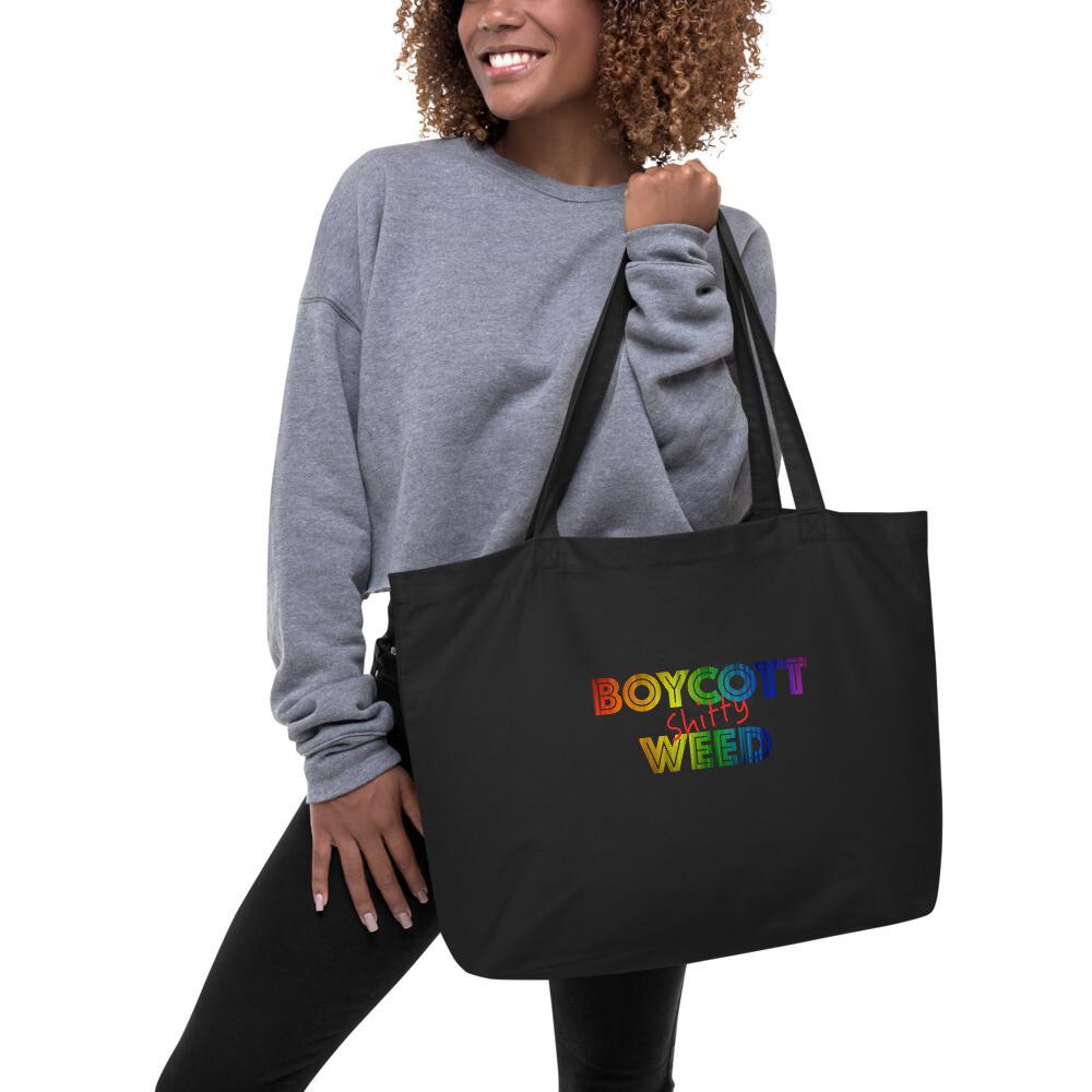 BSW Taste The Rainbow Large organic tote bag