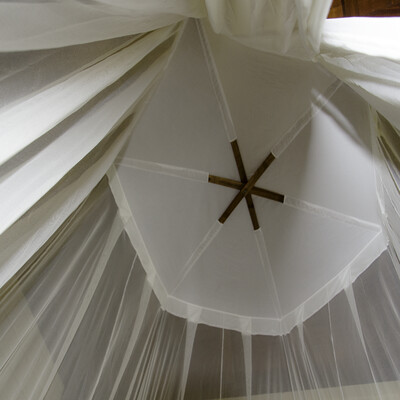 Circular bed mosquito net