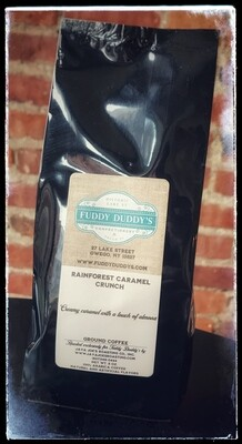 Fuddy Duddy's Rainforest Caramel Crunch Ground Flavored Coffee