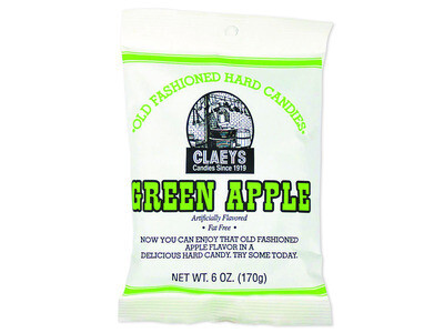 Claey's Old Fashioned Hard Candy - GREEN APPLE DROPS