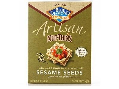 Blue Diamond Artisan Nut Thins - Sesame Seed