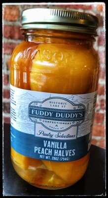 Fuddy Duddy's Vanilla Peach Halves - Quart