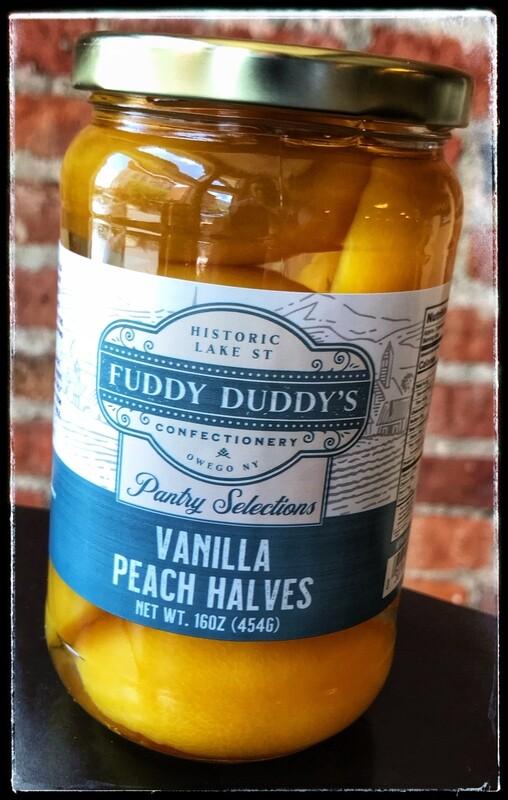 Fuddy Duddy's Vanilla Peach Halves - Pint
