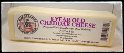 River Rat Eight Year Old Cheddar Cheese
