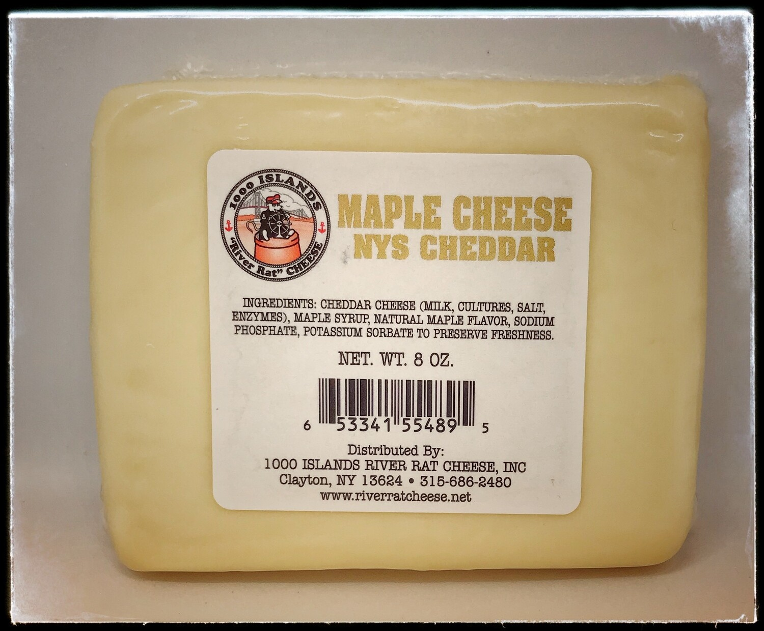 River Rat Maple Cheddar Cheese