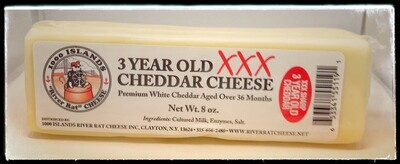 River Rat Three Year XXX Cheddar Cheese