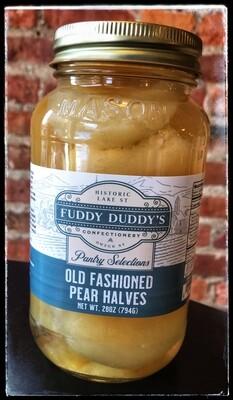 Fuddy Duddy's Old Fashioned Pear Halves