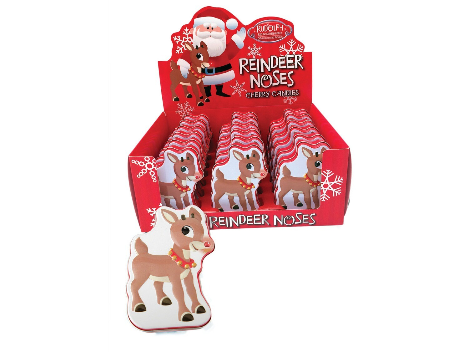 Rudolph Reindeer Noses Cherry Candies