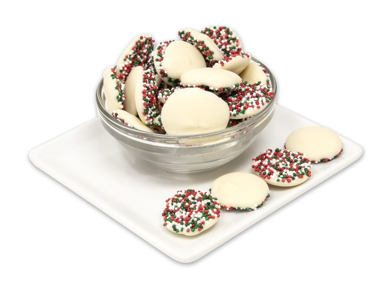 Christmas White Chocolate Nonpareils