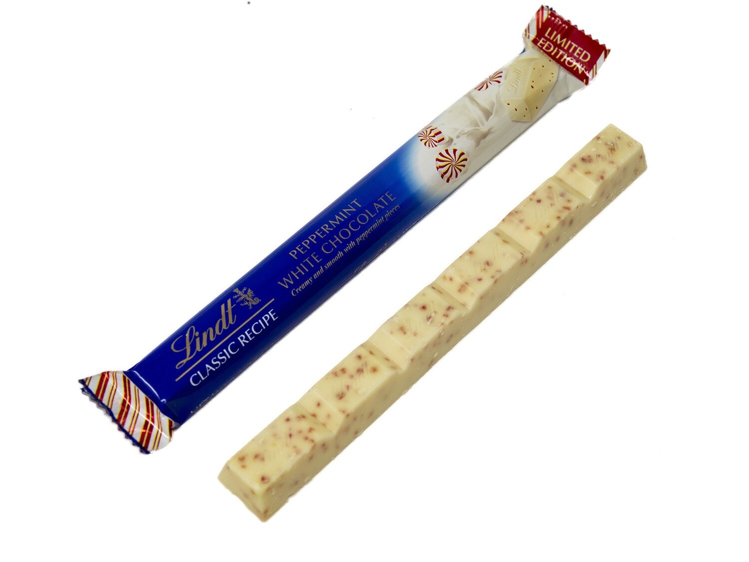Lindt Peppermint White Chocolate Sticks