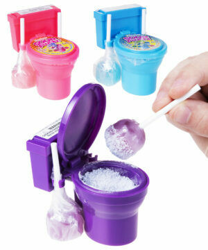 Sour Flush Candy Plunger with Sour Powder Dip