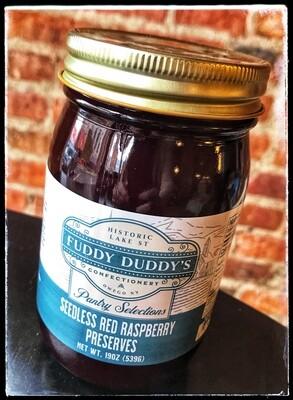 Fuddy Duddy's Seedless Red Raspberry Preserves