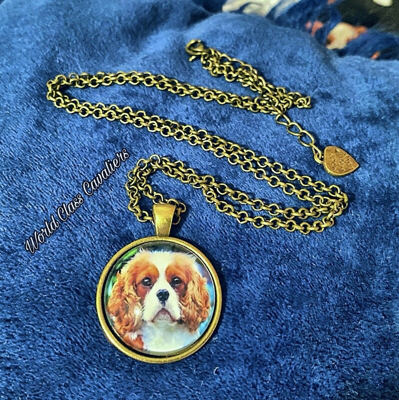 Cavalier King Charles Spaniel Necklace - Design 2