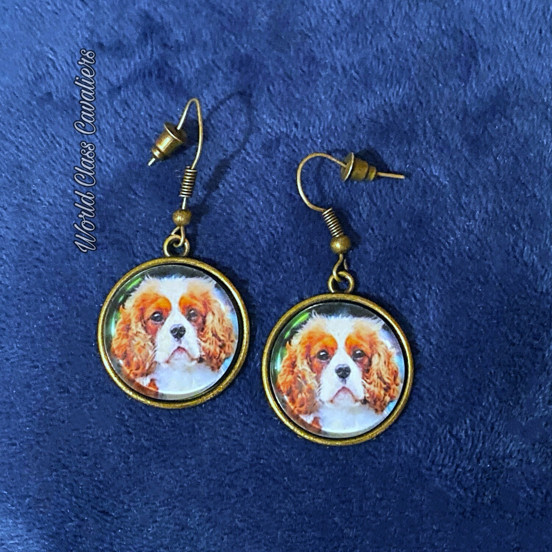 Cavalier King Charles Spaniel - Earrings Dangling