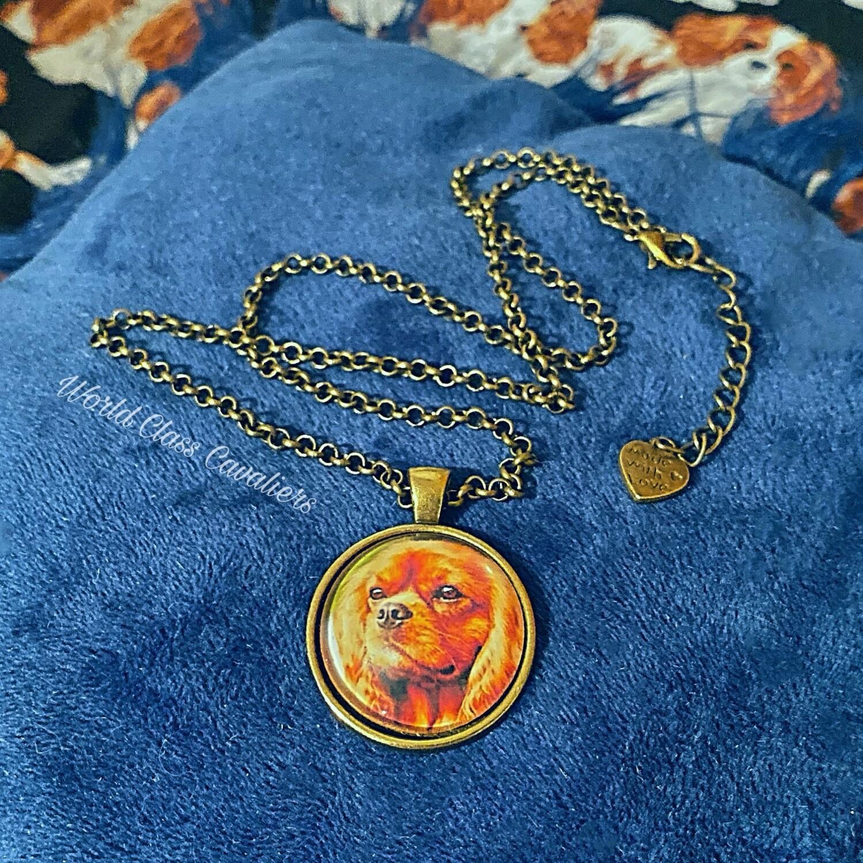 Cavalier King Charles Spaniel necklace - design 5
