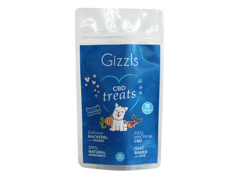 Gizzls 100% Natural Fishy CBD Dog Treats (For Small Dogs)