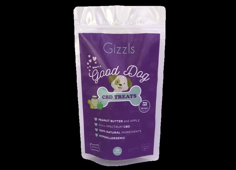 Gizzls Peanut Butter and Apple CBD Dog Treats