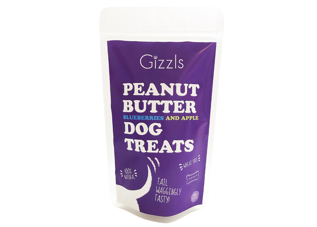 Gizzls Peanut Butter, Blueberries and Apple Treats