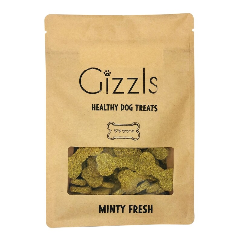 Gizzls Peanut Butter & Mint Dog Treats