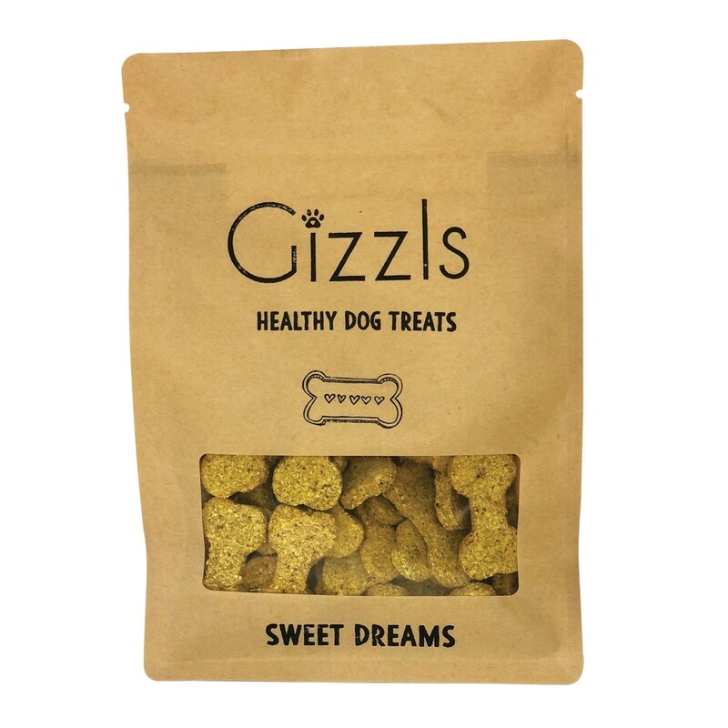 Gizzls Peanut Butter and Chamomile Healthy Dog Treats