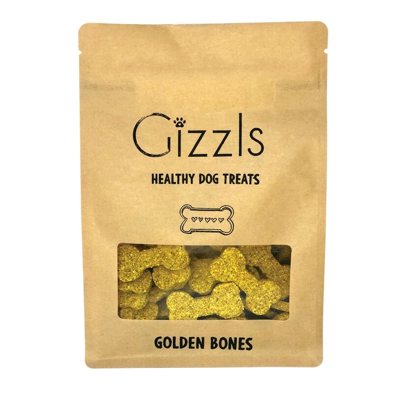 Gizzls Peanut Butter and Turmeric Healthy Dog Treats