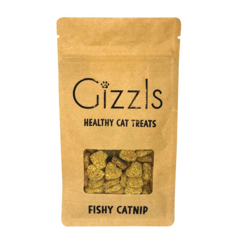Gizzls Fish & Catnip Healthy Cat Treats