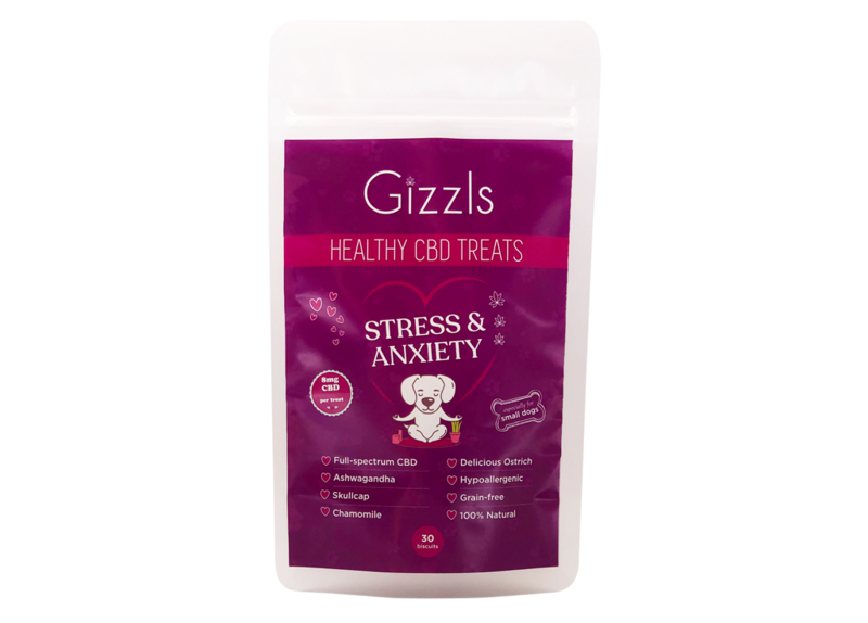 Gizzls Stress and Anxiety CBD Dog Treats for Small Dogs
